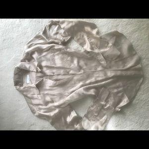 Equipment silk sandstone blouse